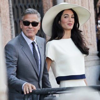 George Clooney - George Clooney and Amal Alamuddin After Their Marriage Civil Ceremony
