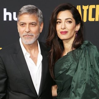 George Clooney, Amal Alamuddin in U.S. Premiere of Hulu's Catch-22