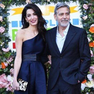 Amal Alamuddin, George Clooney in The People's Postcode Lottery Charity Gala