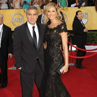 George Clooney, Stacy Keibler in The 18th Annual Screen Actors Guild Awards - Arrivals