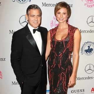 George Clooney, Stacy Keibler in 26th Anniversary Carousel of Hope Ball - Presented by Mercedes-Benz - Arrivals