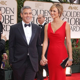 George Clooney, Stacy Keibler in The 69th Annual Golden Globe Awards - Arrivals