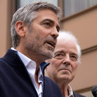 George Clooney, Nick Clooney in George Clooney and His Father Nick Clooney Speak to The Press