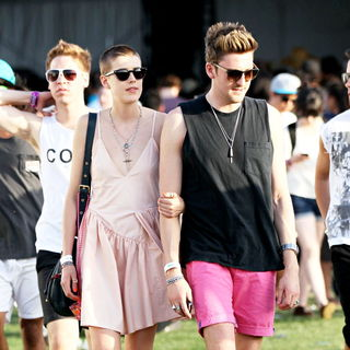 Agyness Deyn, Nick Grimshaw in The 2010 Coachella Valley Music and Arts Festival - Day 1