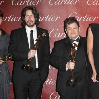 Diablo Cody, Jason Reitman, Patton Oswalt, Charlize Theron in The 23rd Annual Palm Springs International Film Festival Awards Gala - Press Room