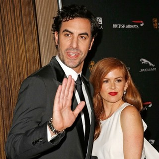 Sacha Baron Cohen in 2013 BAFTA Los Angeles Jaguar Britannia Awards Presented by BBC America - Arrivals - cohen-fisher-2013-bafta-la-jaguar-britannia-awards-02