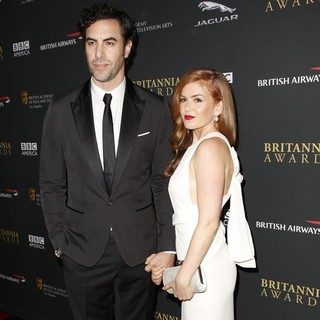 Sacha Baron Cohen in 2013 BAFTA Los Angeles Jaguar Britannia Awards Presented by BBC America - Arrivals - cohen-fisher-2013-bafta-la-jaguar-britannia-awards-03