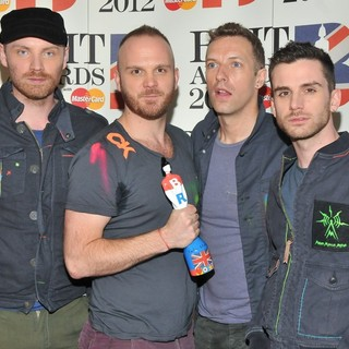 Coldplay in The BRIT Awards 2012 - Winners Board