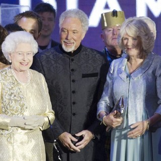 Cheryl Cole, Queen Elizabeth II, Tom Jones, Camilla Parker Bowles, Prince Charles in The Diamond Jubilee Concert