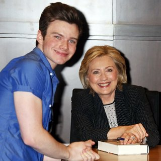Chris Colfer, Hillary Clinton in Hillary Clinton Signing for Her Book Hard Choices