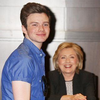 Chris Colfer - Hillary Clinton Signing for Her Book Hard Choices