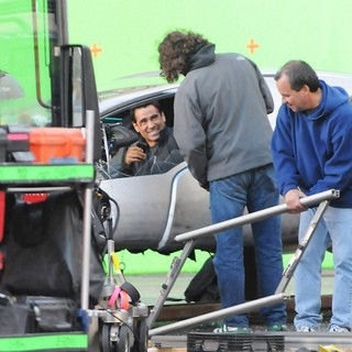 Colin Farrell in On The Set of Total Recall
