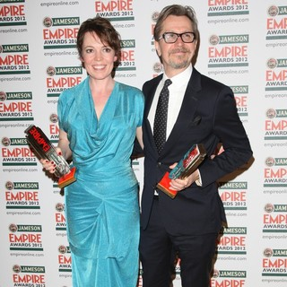 Olivia Colman, Gary Oldman in The Empire Film Awards 2012 - Press Room