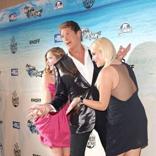 David Hasselhoff, Hayley Hasselhoff, Taylor Ann Hasselhoff in Comedy Central Roast Of David Hasselhoff - Arrivals