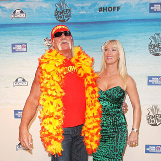 Hulk Hogan, Jennifer McDaniel in Comedy Central Roast Of David Hasselhoff - Arrivals
