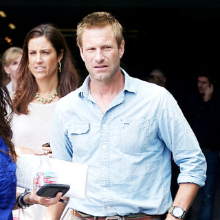 Aaron Eckhart in Comic Con 2010 - Day 1 - Arrivals