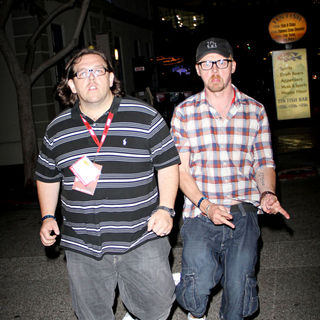 Nick Frost, Simon Pegg in Comic Con 2010 - Day 1 - Arrivals