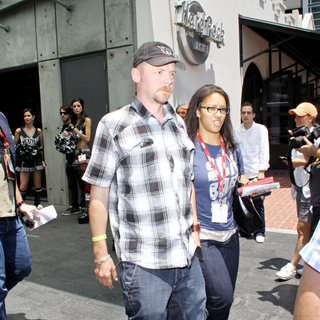 Simon Pegg in Out and About at Comic-Con 2010 - Day 3