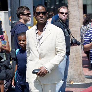 Blair Underwood in Out and About at Comic-Con 2010 - Day 4