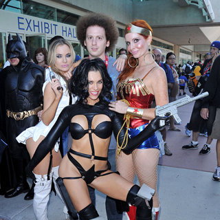 Phoebe Price, Alicia Arden, Josh Sussman in Celebrities at Comic Con 2010 - Day 2