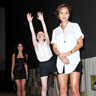 Vanessa Hudgens, Emily Browning, Jamie Chung in Comic-Con 2010 - Day 3 - 'Sucker Punch' Press Conference