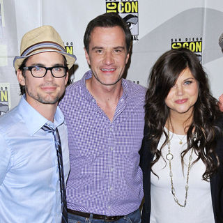Tiffani-Amber Thiessen, Matthew Bomer, Tim DeKay in Comic Con 2010 - Day 1 - 'White Collar' Photocall