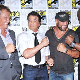 Dolph Lundgren, Sylvester Stallone, Randy Couture, Terry Crews in Comic Con 2010 - Day 1 - 'The Expendables' Photocall