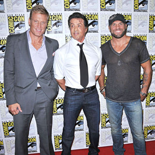 Dolph Lundgren, Sylvester Stallone, Randy Couture in Comic Con 2010 - Day 1 - 'The Expendables' Photocall