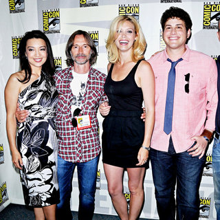 Ming-Na, Robert Carlyle, Alaina Huffman, David Blue in Comic Con 2010 - Day 2 - 'Stargate: Universe' Photocall