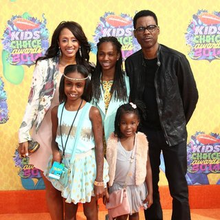 Malaak Compton, Chris Rock in Nickelodeon's 27th Annual Kids' Choice Awards - Arrivals