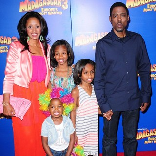 Malaak Compton, Chris Rock in New York Premiere of Dreamworks Animation's Madagascar 3: Europe's Most Wanted