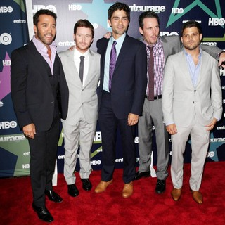 Jeremy Piven, Kevin Connolly, Adrian Grenier, Kevin Dillon, Jerry Ferrara in Final Season Premiere of HBO's Entourage
