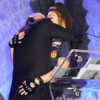 Anderson Cooper, Madonna in 24th Annual GLAAD Media Awards - Madonna Presents The Vito Russo Award to Anderson Cooper