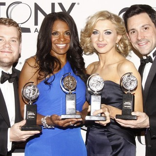 James Corden, Audra McDonald, Nina Arianda, Steve Kazee in The 66th Annual Tony Awards - Press Room