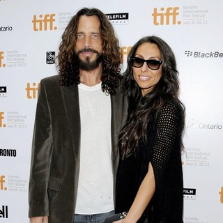 Chris Cornell, Vicky Karayiannis in 36th Annual Toronto International Film Festival - Machine Gun Preacher - Premiere Arrivals