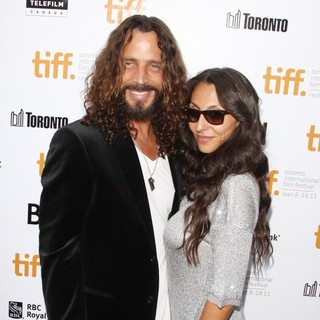 Chris Cornell, Vicky Karayiannis in 36th Annual Toronto International Film Festival - Moneyball - Premiere