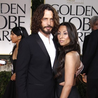 Chris Cornell, Vicky Karayiannis in The 69th Annual Golden Globe Awards - Arrivals