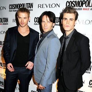Kellan Lutz, Stephen Moyer, Paul Wesley in Cosmopolitan Magazine's Fun Fearless Males of 2010