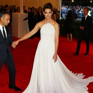 Francisco Costa, Katie Holmes in PUNK: Chaos to Couture Costume Institute Gala
