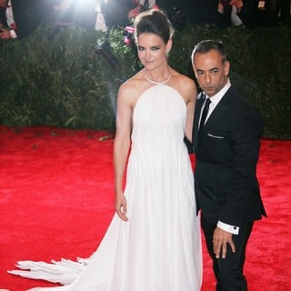 Katie Holmes, Francisco Costa in PUNK: Chaos to Couture Costume Institute Gala