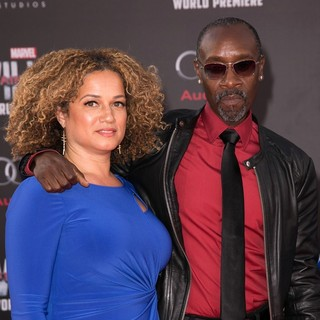 Bridgid Coulter, Don Cheadle in The World Premiere of Captain America: Civil War