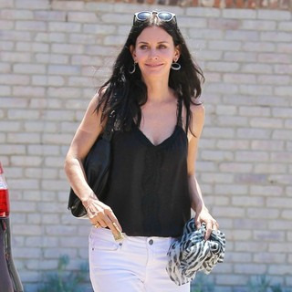 Courteney Cox in Courteney Cox at Joel Silver's Memorial Day Party