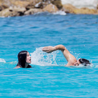 Courteney Cox Enjoying A Day on Flamands Beach