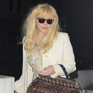 Courtney Love Arrives Home After Enjoying A Night Out