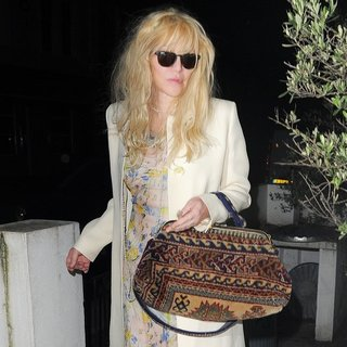 Courtney Love - Courtney Love Arrives Home After Enjoying A Night Out