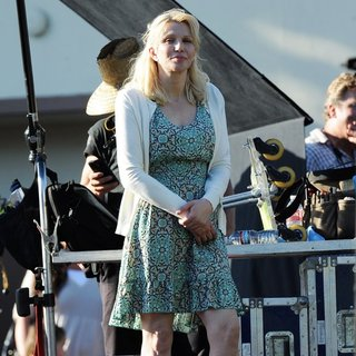 Courtney Love - On The Set of Sons of Anarchy
