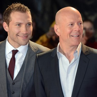 Jai Courtney, Bruce Willis in A Good Day to Die Hard UK Premiere - Arrivals