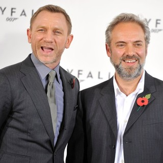 Daniel Craig, Sam Mendes in The 23rd James Bond Movie Photocall