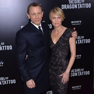 Daniel Craig, Robin Wright Penn in New York Premiere of The Girl with the Dragon Tattoo - Arrivals