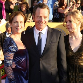 Robin Dearden, Bryan Cranston, Taylor Cranston in The 18th Annual Screen Actors Guild Awards - Arrivals
